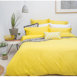 Постельное белье на резинке Желтый Поплин MERISET