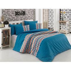 Постельное белье Essentiel Blue Ранфорс Majoli
