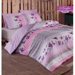 Постельное белье Sofya v2 Lilac Ранфорс Majoli