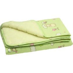 Двусторонее зимнее одеяло 320ОУ Салатовое Шерсть РУНО