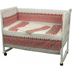Набор в кроватку с защитным ограждением 4 предмета РУНО
