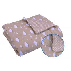 Детское демисезонное одеяло 02 ХБУ Бежевое облако РУНО
