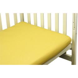 Простынь на резинке Желтая Бязь РУНО