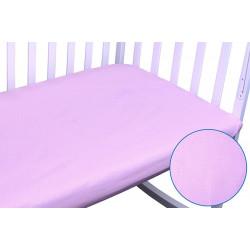 Простынь на резинке Розовая Бязь РУНО