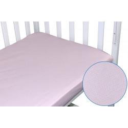 Простынь на резинке Розовая клетка Бязь РУНО