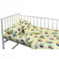 Детское постельное Малыш Совы беж Бязь РУНО