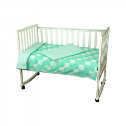 Детское постельное Клеточка зеленое Бязь РУНО