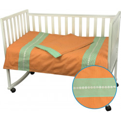 Детское постельное Веселый горошек оранжевое Бязь РУНО