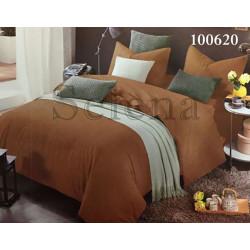Однотонное постельное белье Бязь Шоколадное SELENA
