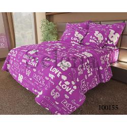 Постельное белье на резинке Бязь Love Фиолет SELENA
