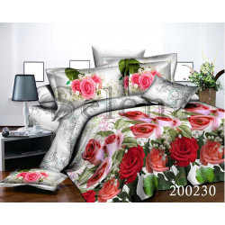 Постельное белье на резинке Ранфорс Летние розы SELENA