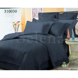 Однотонное постельное белье Сатин Stripe 1х1 Графит SELENA