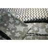 Постельное белье на резинке Серый звездопад Бязь SELENA