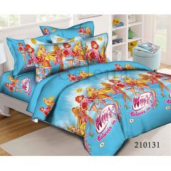 Подростковое постельное белье Winx blue Ранфорс SELENA