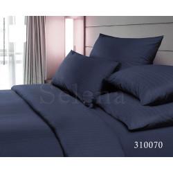 Постельное белье Сатин Stripe 1х1 синий SELENA