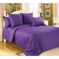 Постельное белье Сатин Stripe 1х1 фиолетовый SELENA