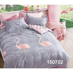 Постельное белье на резинке Звездный фламинго Бязь Light SELENA