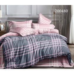 Подростковое постельное белье Шотландка розовая Ранфорс SELENA