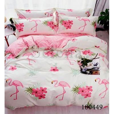 Постельное белье на резинке Розовый фламинго 2 Бязь SELENA