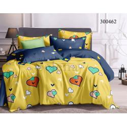 Подростковое постельное белье Цветные сердечки Сатин SELENA