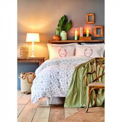 Набор постельное белье с покрывалом пике Sonya yesil зеленый пике Karaca Home