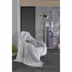 Плед-накидка Buldan Keten Verda gri серый Eponj Home