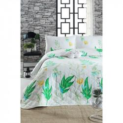 Покрывало стеганое с наволочкой Arta yesil зеленый Enlora Home
