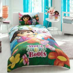 Постельное белье на резинке Dora & Boots Ранфорс ДИCНЕЙ TAC