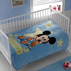 Детский плед Акрил Disney Mickey Baby Синий TAC