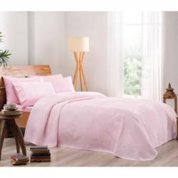 Однотонное постельное белье на резинке Rosabella Pembe TAC