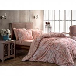 Постельное белье Сатин Digital Blanche pembe розовое TAC