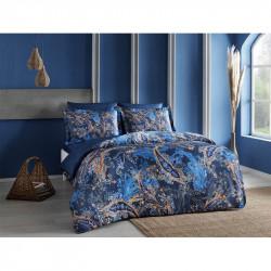 Постельное белье Сатин Digital Marisol lacivert синее TAC