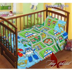 Постельное белье в кроватку Робокар Поли TAG