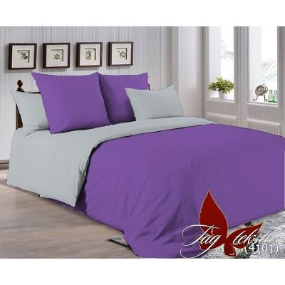 Однотонное постельное белье P-3633(4101) Поплин TAG
