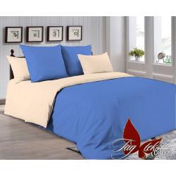 Однотонное постельное белье P-4037(0807) Поплин TAG