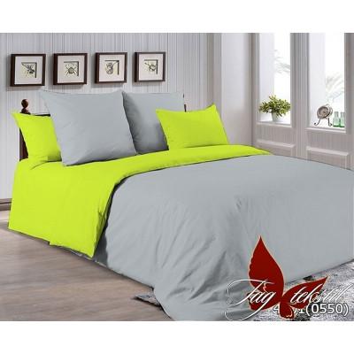 Однотонное постельное белье P-4101(0550) Поплин TAG