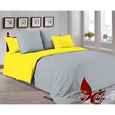 Однотонное постельное белье P-4101(0643) Поплин TAG