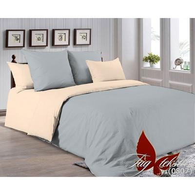 Однотонное постельное белье P-4101(0807) Поплин TAG