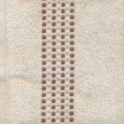 Полотенце махровое Goroh Светло-бежевое TAG