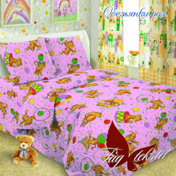Детское постельное белье Обезьянки роз Поплин TAG