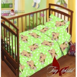 Детский комплект Мишки зеленые Поплин TAG