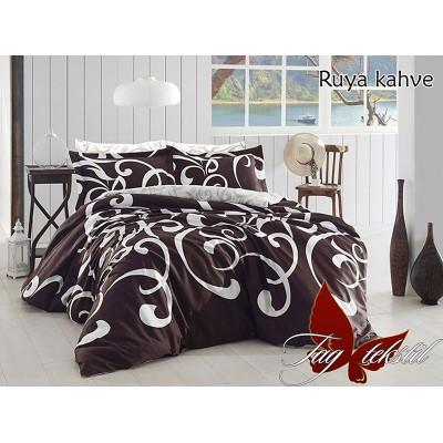 Постельное белье с компаньоном Ruya kahve Ранфорс TAG