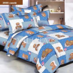 Детское постельное белье 3555 Ранфорс голубое ВИЛЮТА