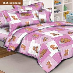 Детское постельное белье 3555 Ранфорс розовое ВИЛЮТА