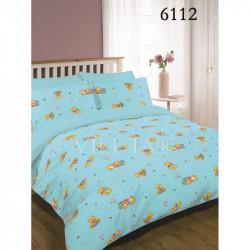 Детское постельное белье 6112 Ранфорс голубое ВИЛЮТА