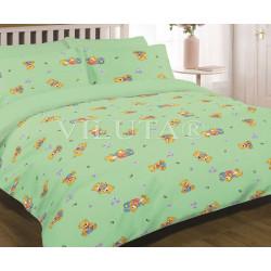 Детское постельное белье 6112 Ранфорс зеленое ВИЛЮТА