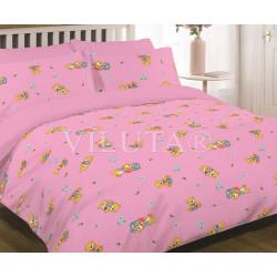 Детское постельное белье 6112 Ранфорс розовое ВИЛЮТА