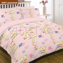 Детское постельное белье 4457 Ранфорс Розовое ВИЛЮТА