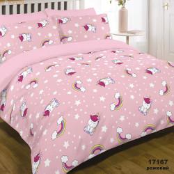 Постельное белье 17167 Розовое Ранфорс ВИЛЮТА