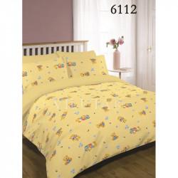 Детское постельное белье 6112 Желтое Ранфорс ВИЛЮТА